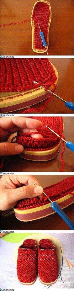 Тапочки. | вязание крючок и спицы | Постила