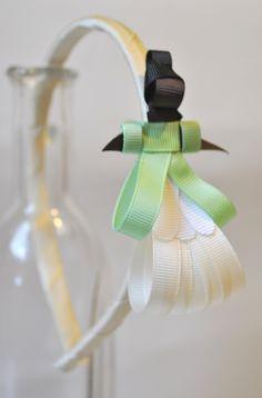tiara da Tiana - A Princesa e o Sapo esculturas feitas com fitas de gorgorão à mão.  **ARCO DE TAMANHO ÚNICO - 39CM DE PONTA A PONTA R$ 27,50