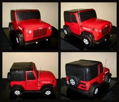 Jeep Rubicon Cake on Cake Central Jeep Cake, Red Jeep, Fancy Cupcakes, Jeep Rubicon, Wrangler Jeep, Cake Central, Fondant Toppers, Novelty Cakes, Cakes For Boys