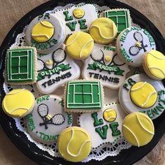Tennis Decorated Sugar Cookies