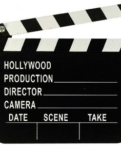 Tabla ClapBoard de Director de Cine de Hollywood #fiestas #cine #glamour #gift