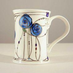Stained Glass style mug inspiration | by Charles Rennie Mackintosh