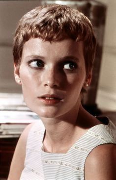 Fashion and film have always gone hand in hand. Here are some of my favorite actresses starring in their chicest roles. Vintage Hairstyles, Trendy Hairstyles, Celebrity Hairstyles, Braided Hairstyles, Mia Farrow Pixie, Rosemaries Baby, Medium Hair Styles, Curly Hair Styles, Trending Celebrity News