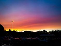 Taken from my local supermarket car park with a Samsung Galaxy Note smartphone - a rather special sunset.