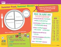 This fun placemat from USDA's Team Nutrition is one of their NEW summer resources! #summermeals