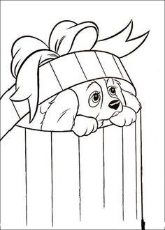 Disegni da colorare per bambini. Colorare e stampa Lilli e il vagabondo 7