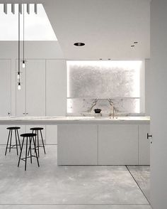 "A Designer's Mind (@adesignersmind) on Instagram: ""The purity of white... #kitchen  Project by: @adoffice.be #architecture #homedesign #lifestyle…"""