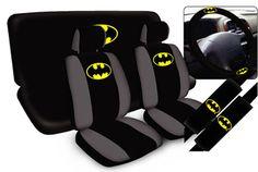 11pc DC Comics Batman Beyond Dark Knight Rises Superhero Arkham SUV Seat Cover