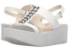 Pedro Garcia Noella (White Vacchetta) Women's Wedge Shoes