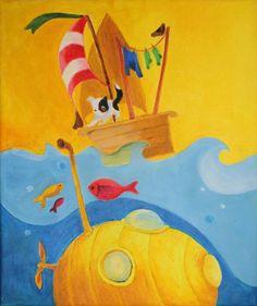 Ponorka pre Paula a Johna / ajsha - SAShE. Handmade, Painting, Hand Made, Painting Art, Craft, Paintings, Draw