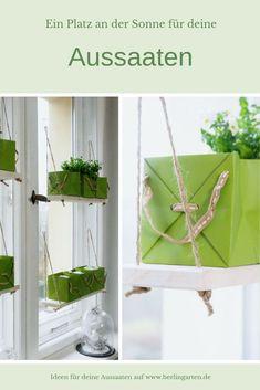 Werbung || Du willst dein Gemüse und deine Blumen aussäen? Ausaaten brauchen Licht und wir brauchen Platz für all die Töpfe. Die Lösung: kleine Regale direkt am Fenster mit ablösbaren Klebehaken.