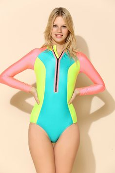 Kovey Long-Sleeve One-Piece Swimsuit - Urban Outfitters