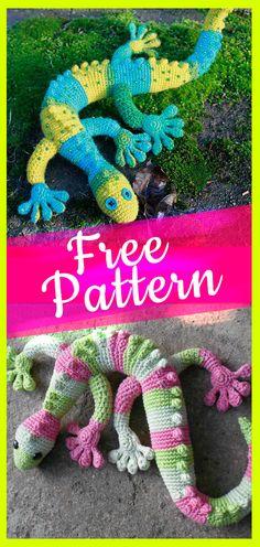 Free crochet gecko pattern #grckopattern #amigurumicreative #crochetcreative