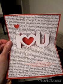 DIY Pop-Up Valentine's Day Card by Tried & Twisted