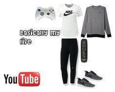 """Basically my life"" by daveywavey ❤ liked on Polyvore featuring мода, adidas и NIKE"