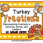 Your students will love this festive math center game.  In this game, students match 3 cards:  one representing a fraction with a cute turkey pictu...