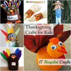 Have a thrifty Turkey Day with these 17 Recycled Thanksgiving Crafts for Kids!