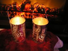 Recycled Tin Can Votive by Doingourpart on Etsy