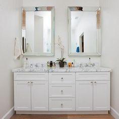Beveled Mirors Bathroom Vanity MirrorsWhite