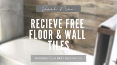 Free bathroom fittings and tiles of choice with your next bathroom renovation promotion. Bathroom Renovations Sydney, Next Bathroom, Wall Tiles, Flooring, Reading, Books, June, Room Tiles, Libros
