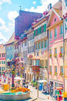 Three Incredible Day Trips from Zurich : Three Incredible Day Trips from Zurich - Rhine Falls, Stein am Rhein, and Lichtenstein! Zurich, Places Around The World, Travel Around The World, Swiss Travel Pass, Bon Plan Voyage, Excursion, Beautiful Places To Travel, Beautiful Sites, Travel Aesthetic