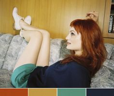 love this color combo rust, gold, teal, navy, with a deep red is the perfect palette, see?!