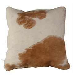 Cowhide Cushion Cover - Brown & White main image