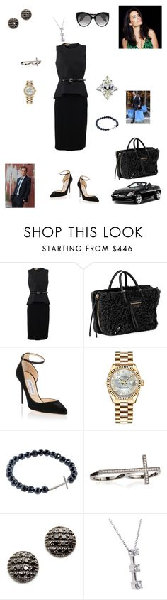 """""""The B is Back: Natalie's Return"""" by ejmfashionista ❤ liked on Polyvore featuring Michael Kors, Balenciaga, Jimmy Choo, Rolex, Sydney Evan, Dana Rebecca Designs, Alexander McQueen and Mercedes-Benz"""