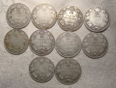 Lot of 10 Canada King George V Silver by FionaKennyAntiques