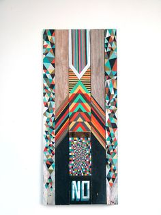 Interesting use of gemotric shapes and text from the series of indecision by Richard Pearse Nz Art, Crazy Patchwork, Maori Art, Pattern Images, Glitch Art, Modern Artists, Modern Graphic Design, Design Art, Print Design
