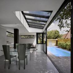 puits de lumière, terrasse avec piscine débordante