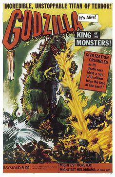 1954 – The first Godzilla film   ... Movie Posters in Full Color - Godzilla 1954.   #Godzilla