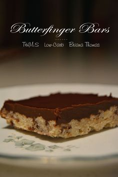 Butterfinger Bars ~ THM *Original recipe is a Crossover. There's instructions to lighten it up at the bottom of the recipe.*