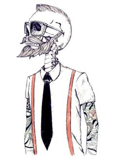 The Gentleman becomes a Hipster by Mike Koubou, an illustrator and graphic designer from Germany but currently working in Athens. He is focused on logos and mascot, character design, caricature and abstract illustration Art And Illustration, Hipster Illustration, Street Art, Hipster Art, Tumblr Hipster, Hipster Drawings, Hipster Poster, Hipster Ideas, Vintage Hipster