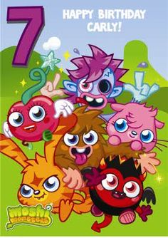 Ok so Moshi Monsters might not be actual animals... But they sure are cute, and perfect for the kid's next birthday card.
