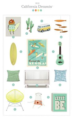 """CALIFORNIA DREAMIN'"" Nurserie par Kolegram"