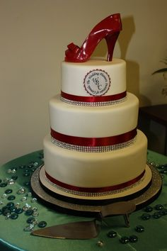 high heel cakes | Red High Heel Cake Photo Provided by: Tracey Manailescu