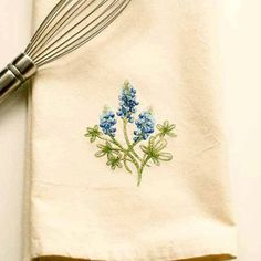 Hey, I found this really awesome Etsy listing at https://www.etsy.com/listing/210391350/bluebonnet-tea-towel-embroider-towel