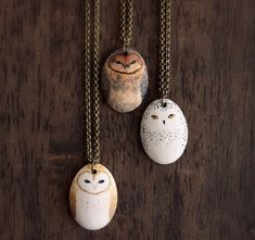 The Little Hermitage Little owl Necklace - created by HandyMaiden on Etsy! $30.00 made from Earthenware ceramics! They also have a TON of other cute things in their shop!! please please PLEASE credit artists! They deserve the recognition!! ESP small businesses who thrive on social media shares!!