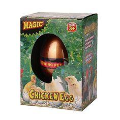 Kukul Sorpresa huevos para niños Agregue agua en una taza, Huevos es inflable para juguetes de animales (Pollo)
