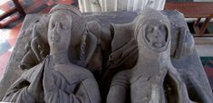 Katherine Stafford (c.1376-1419) and Michael de la Pole (1367-1415), 2nd Earl of Suffolk, Justice of the Peace for Norfolk & Suffolk, on their monument at Wingfield church in Suffolk. Justice Of The Peace, My Ancestors, Norfolk, Lion Sculpture, Statue, Sculptures, Sculpture