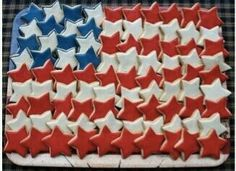 Red, white & blue star cookies