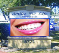 Full Color LED Sign, Smiles For Life