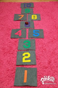 Hopscotch or Jump Rope Teach the girls to be Honest & Fair. Girl Scout Activities, Toddler Activities, Activities For Kids, Number Activities, Daisy Girl Scouts, Girl Scout Troop, Crafts To Do, Diy Crafts For Kids, Kids Diy