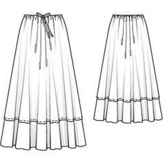Drawstring Maxi Skirt 05/2014 #119