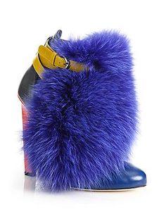 Brian Atwood Majoy Fox Fur