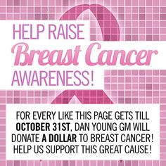 Help us raise as much as possible for Breast Cancer Awareness!