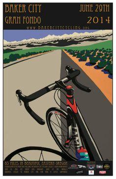 Baker City Gran Fondo poster