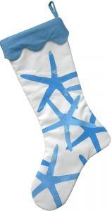 Sea Star Blue Coastal Christmas Stocking