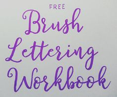 I've been working on my brush lettering 😄 If you want to give it a go too, you can find it on the blog MenagerieStamps.wordpress.com #brushlettering #moderncalligraphy #calligraphy #free #howto #workbook #worksheets #tombowdualbrushpens #handletteringnewbie